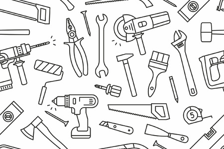 Building tools seamless pattern