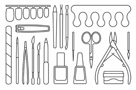 Manicure tools Icons Illustration