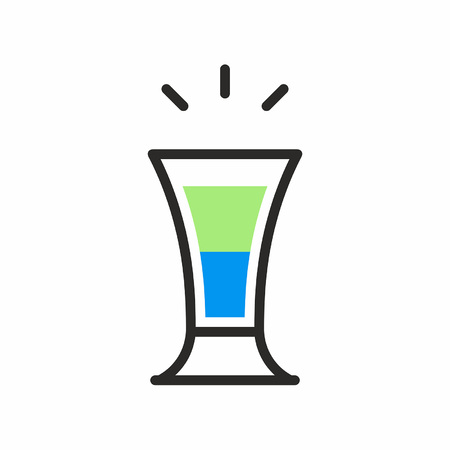 Cocktail shot icon Stock Vector - 83428832