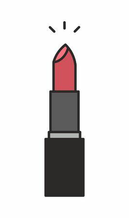 Lipstick icon, single illustration isolated on white