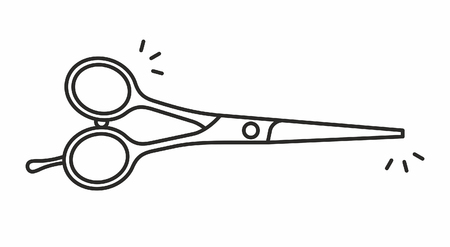 snip: Scissors vector icon
