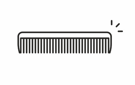 haircutting: Comb vector icon Illustration