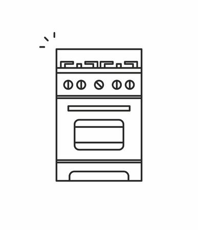 Gas stove icon Illustration
