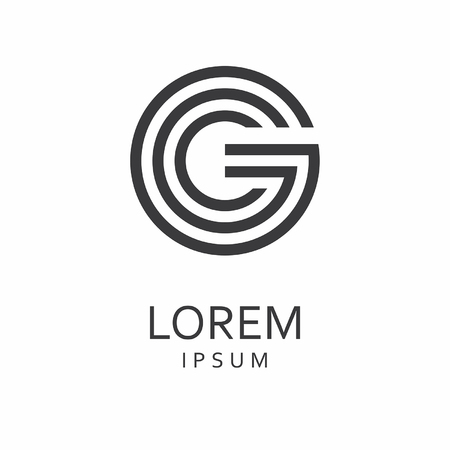 G Letter Logo. Vector Icon Illustration