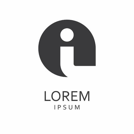 I Letter Logo. Vector Icon Illustration