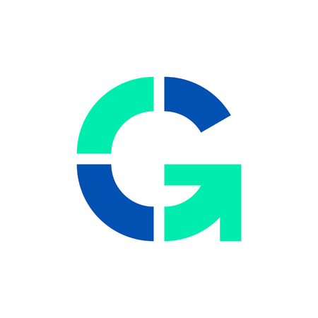 Letter G logo. Icon design. Template elements - vector sign 일러스트
