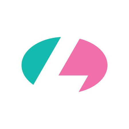 Logo litery L. Projekt ikony. Elementy szablonu - znak wektora