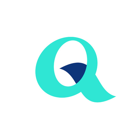Letter Q logo. Icon design. Template elements - vector sign