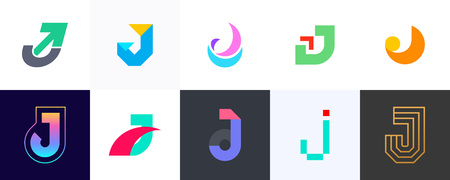 Set of letter J . Icon design. Template elements - Collection of vector sign