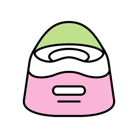 Baby potty icon. isolated on white background