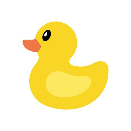 Gelbe Ente-Symbol. isoliert auf weißem Hintergrund
