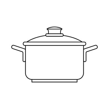 Saucepan icon. isolated on white background