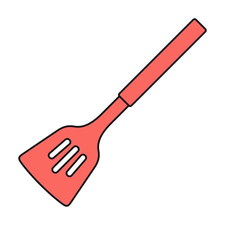 Kitchen spatula icon. isolated on white background