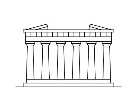 Parthenon In Athen-Symbol. isoliert auf weißem Hintergrund