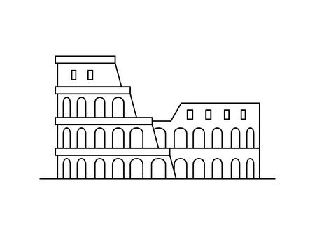 Kolosseum-Symbol. isoliert auf weißem Hintergrund Vektorgrafik