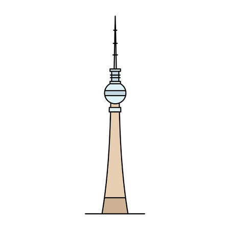 Berlin TV Tower icon. isolated on white background Illustration