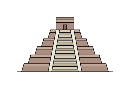 Maya pyramid icon. isolated on white background