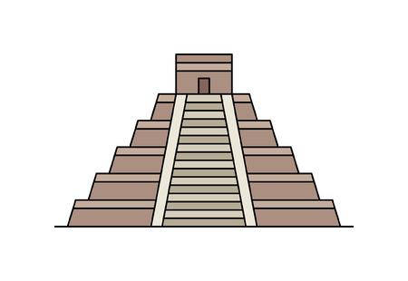 Maya pyramid icon. isolated on white background