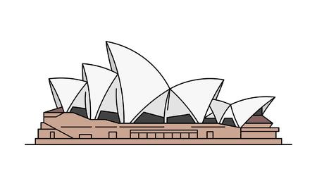 Sydney Opera House icon. isolated on white background Vector Illustration