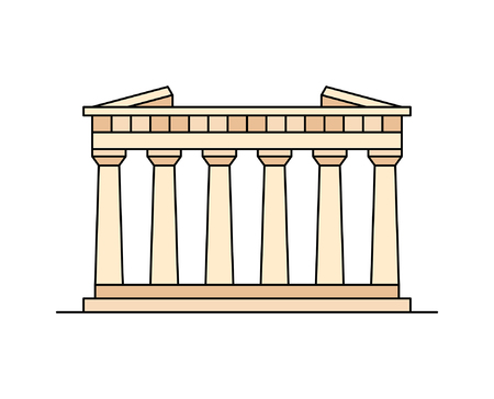 Parthenon In Athens icon. isolated on white background
