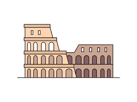 Icône du Colisée. isolé sur fond blanc
