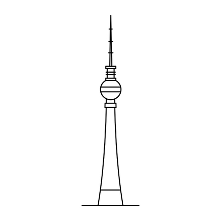 Berlin TV Tower icon. isolated on white background Stock Illustratie