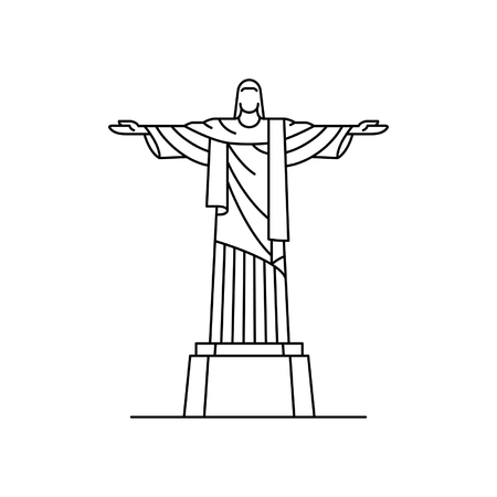 Christ the redeemer icon. isolated on white background