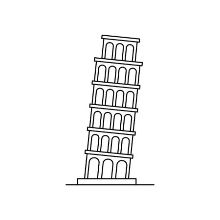 Tower of pisa icon. isolated on white background