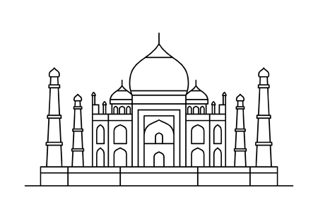 Taj Mahal icon. isolated on white background