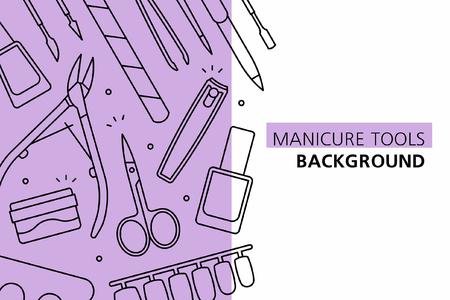 Manicure tools background. isolated on white background