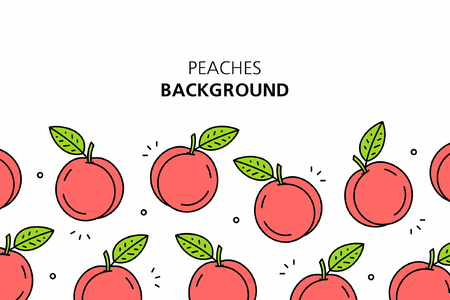 Peaches background. isolated on white background Foto de archivo - 121932437