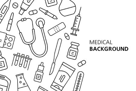 Medical background. isolated on white background Illustration