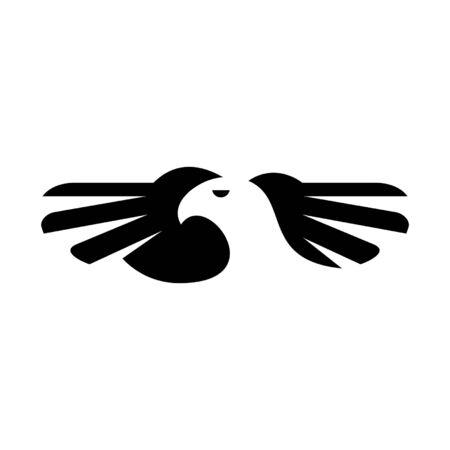 Eagle Icon design. Template elements Banque d'images - 128946458