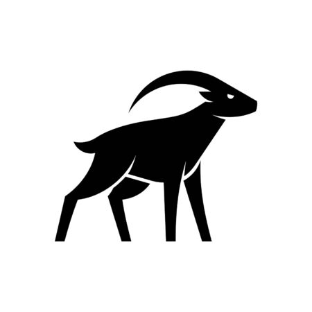 Goat Icon design. Template elements
