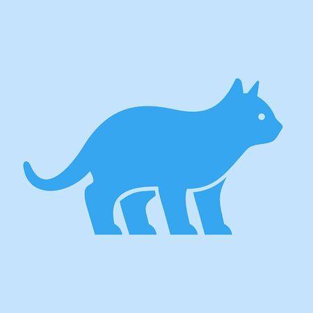 Diseño de icono de gato. Elementos de plantilla