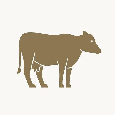 Kuh-Icon-Design. Vorlagenelemente