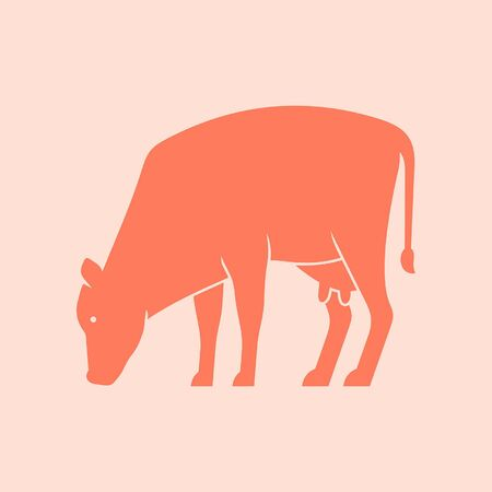Cow Icon design. Template elements