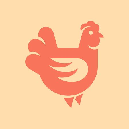 Hen, chicken Icon design. Template elements