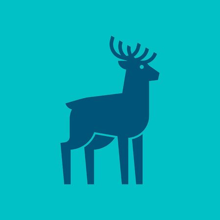 Deer Icon design. Template elements
