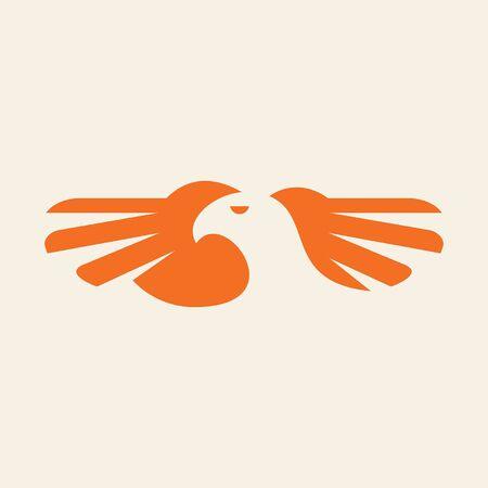 Eagle Icon design. Template elements Banque d'images - 128946904