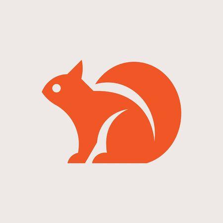 Squirrel Icon design. Template elements Ilustración de vector