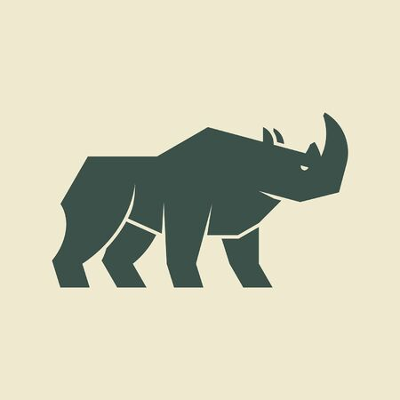 Rhinoceros Icon design. Template elements