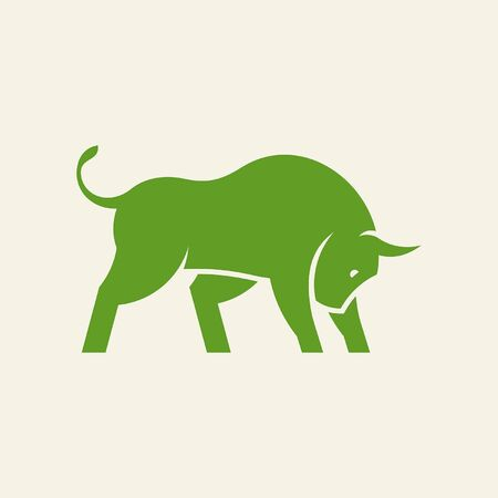 Bull Icon design. Template elements Illustration