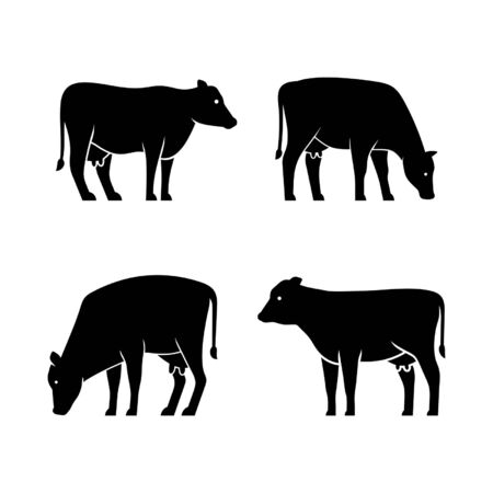 Set of Cow Icon design. Template elements Фото со стока - 128947150