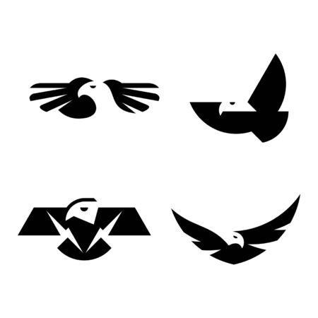 Set of Eagle Icon design. Template elements Banque d'images - 128947165