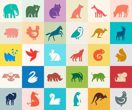 Animals logos collection. Animal logo set