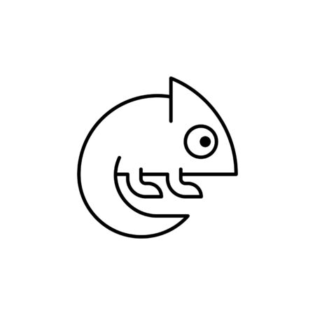 Chameleon line icon. Icon design. Template elements