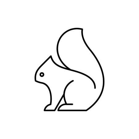 Squirrel line icon. Icon design. Template elements Ilustración de vector