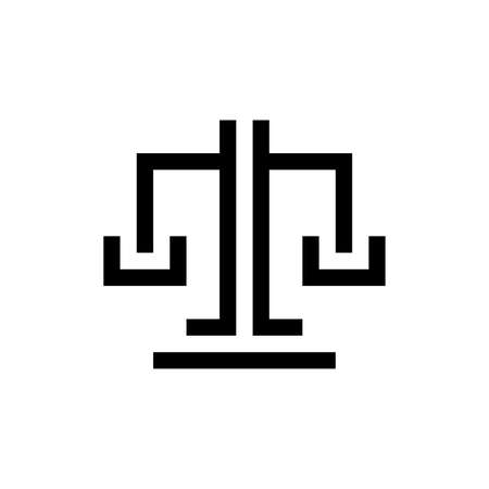 Justice law  . Icon design. Template elements 向量圖像