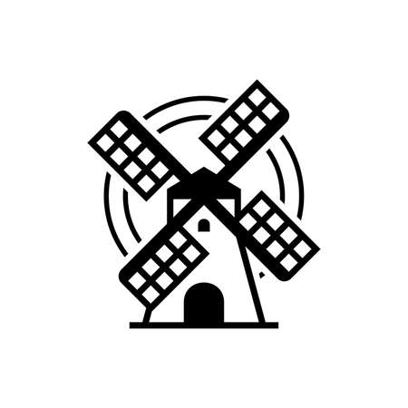 Windmill . Icon design. Template elements
